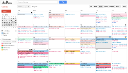 Dann's busy calendar