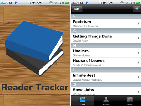 Reader Tracker Screens